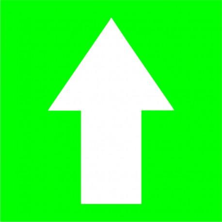 Combo 6 Flechas Contorno cuadrado Verde para distanciamiento COVID 15 cm x 15 cm