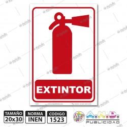 "Señaletica A4  ""Extintor"""