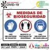 Señaletica A3 29,7 x 42 Medidas de Bioseguridad