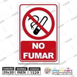 """Señaletica A4 """"No Fumar"""""""