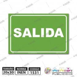 "Señaletica A4 ""Salida"""
