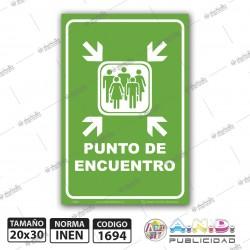 "Señaletica A4 ""Punto de Encuentro"" Fotoluminiscente"
